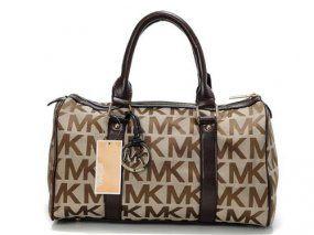 Michael Kors Beige Lovely Round Tote Bag Handbags Michael Kors Michael Kors Bag Brown Satchel
