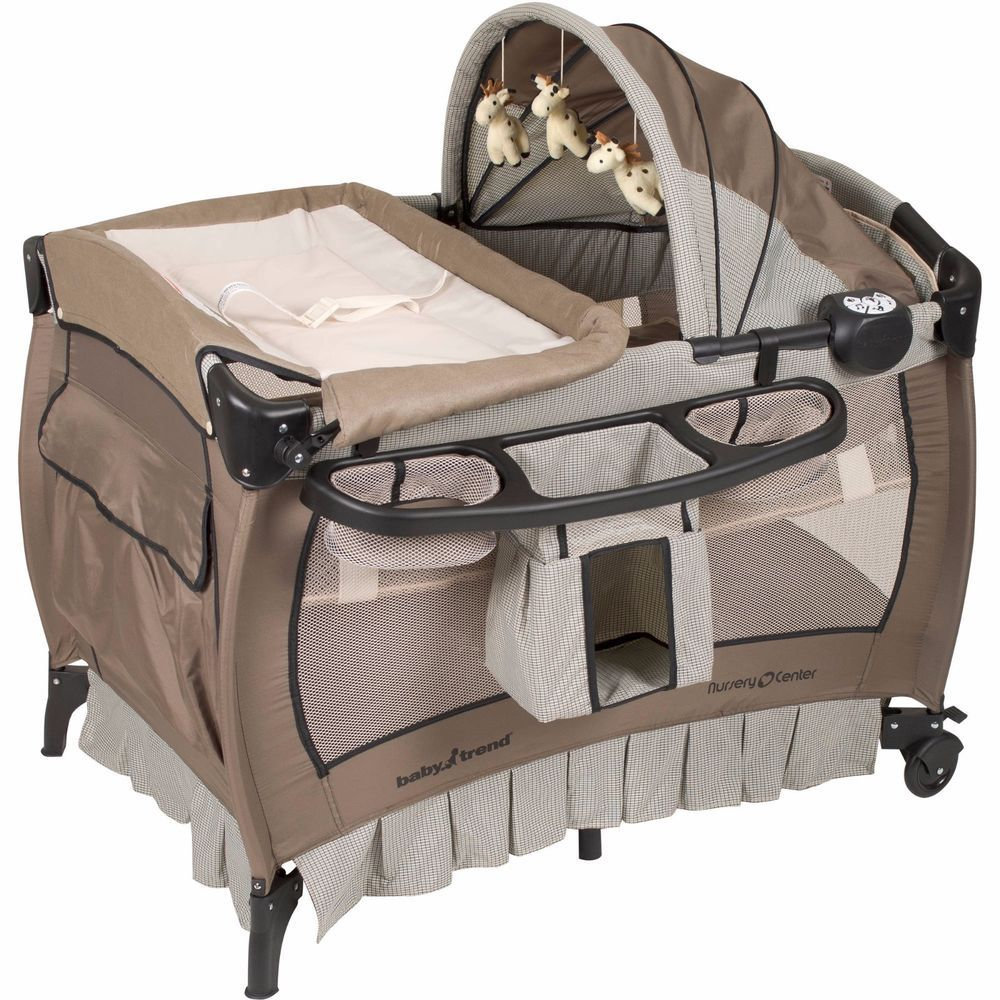 Portable Playard Playpen Bassinet Newborn Infant Pack N Play Changing Table New Unbranded Nursery Bassinet Baby Bassinet Baby Trend