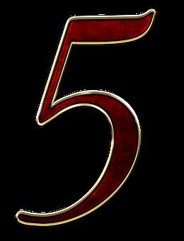 Number 5 Five Digit Background Scrapbookin Image Download Free Images Free Images