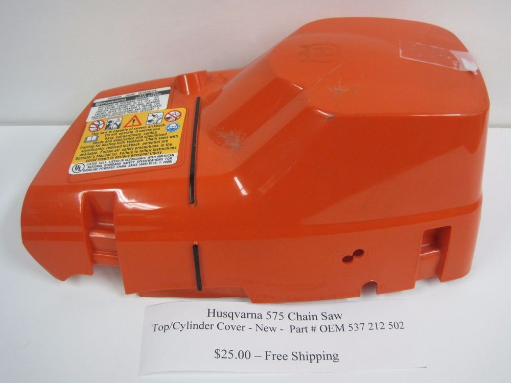 NEW HUSQVARNA 575 CHAINSAW TOP CYLINDER COVER OEM PART