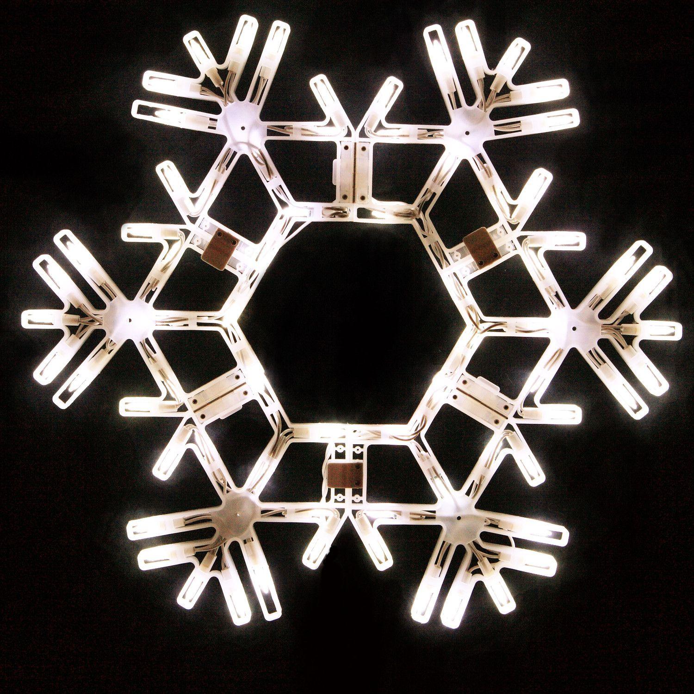20 led folding snowflake decoration 70 cool white lights 20 led folding snowflake decoration 70 cool white lights aloadofball Choice Image