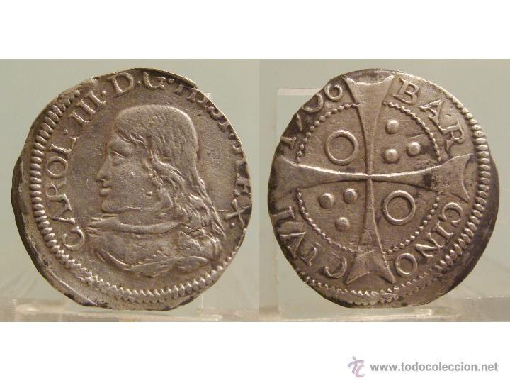 1 CROAT DE BARCELONA 1706 EL PRETENDIENTE (1700-1714) REAL DE PLATA