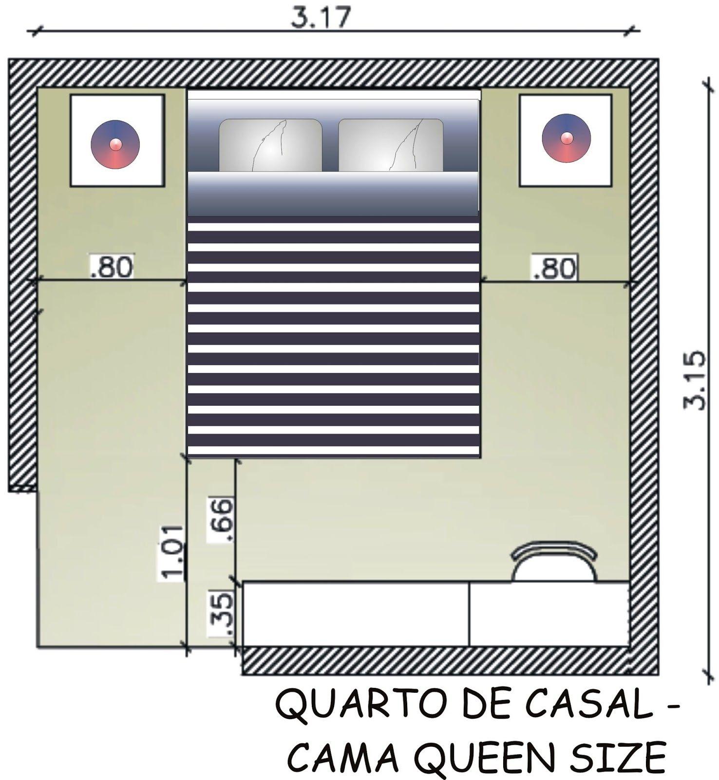 Fernanda cavalcante medidas b sicas quarto de casal for Medidas de sabanas para cama king size