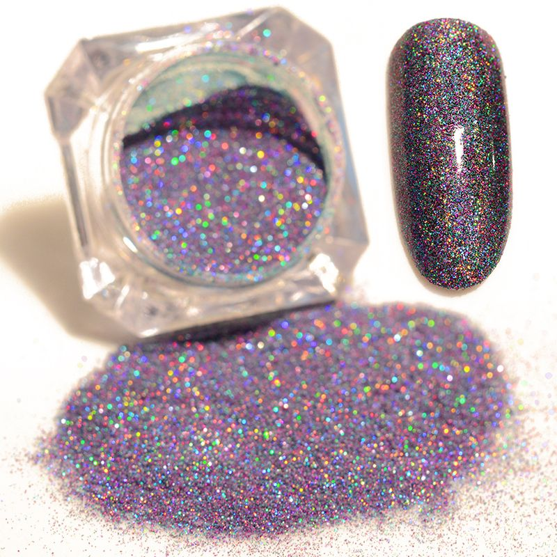 9 Colors Laser Nail Glitter Powder Starry Holographic 1.5-1.8g ...