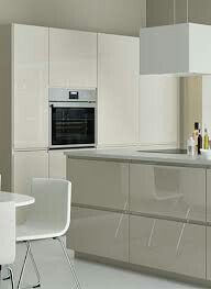 Voxtorp hoogglans beige keuken d coration int rieure for Cuisine voxtorp