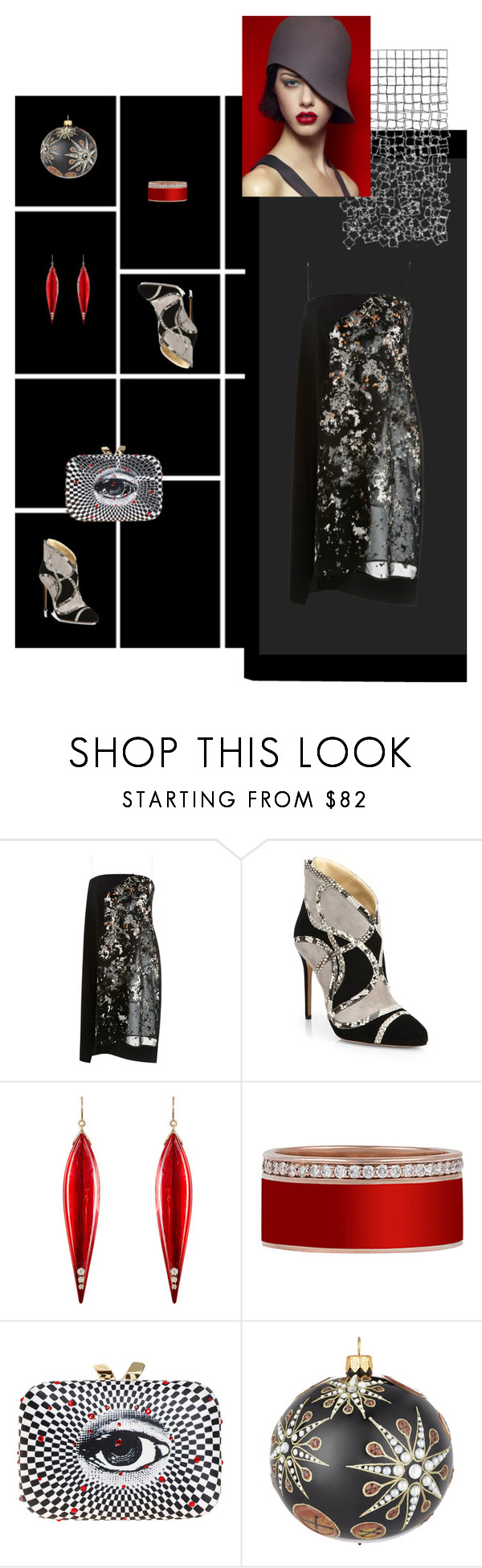 """Space night"" by aprisadashka ❤ liked on Polyvore featuring Narciso Rodriguez, Alexandre Birman, Mark Davis and KOTUR"