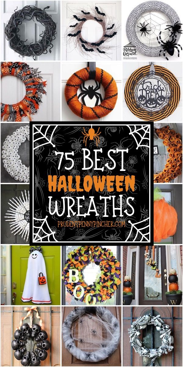 Photo of 75 Best DIY Halloween Wreaths