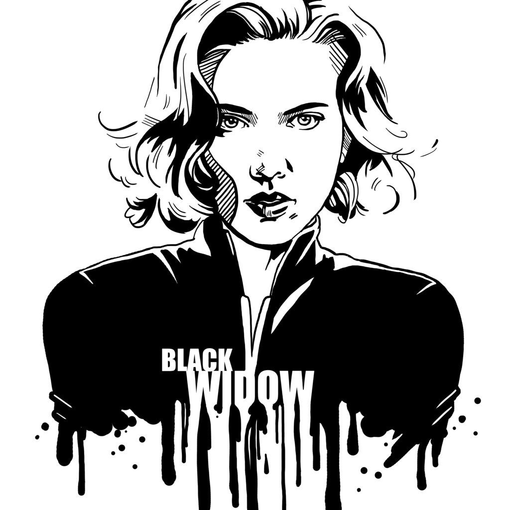 avengers in ink black widow by loominosity deviantart com on