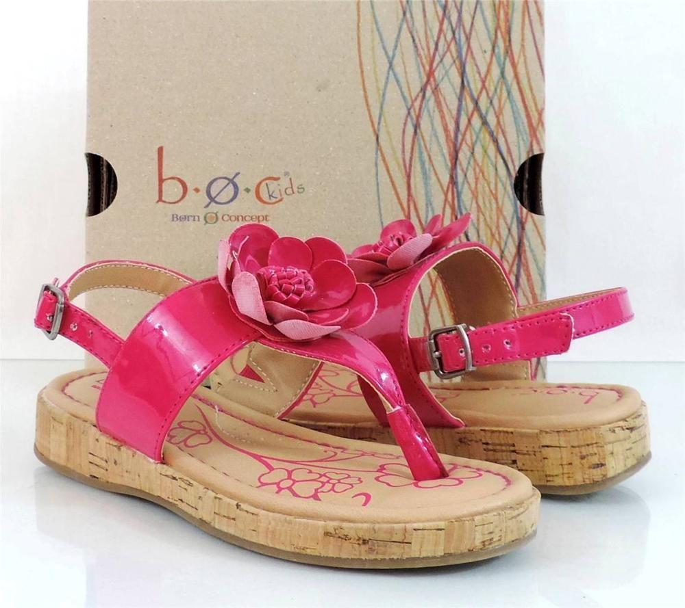 Kids Shoes b.o.c Born KIDS HONEY Thong Wedge Sandals Fushia Size 13 #bocBorn #Sandals