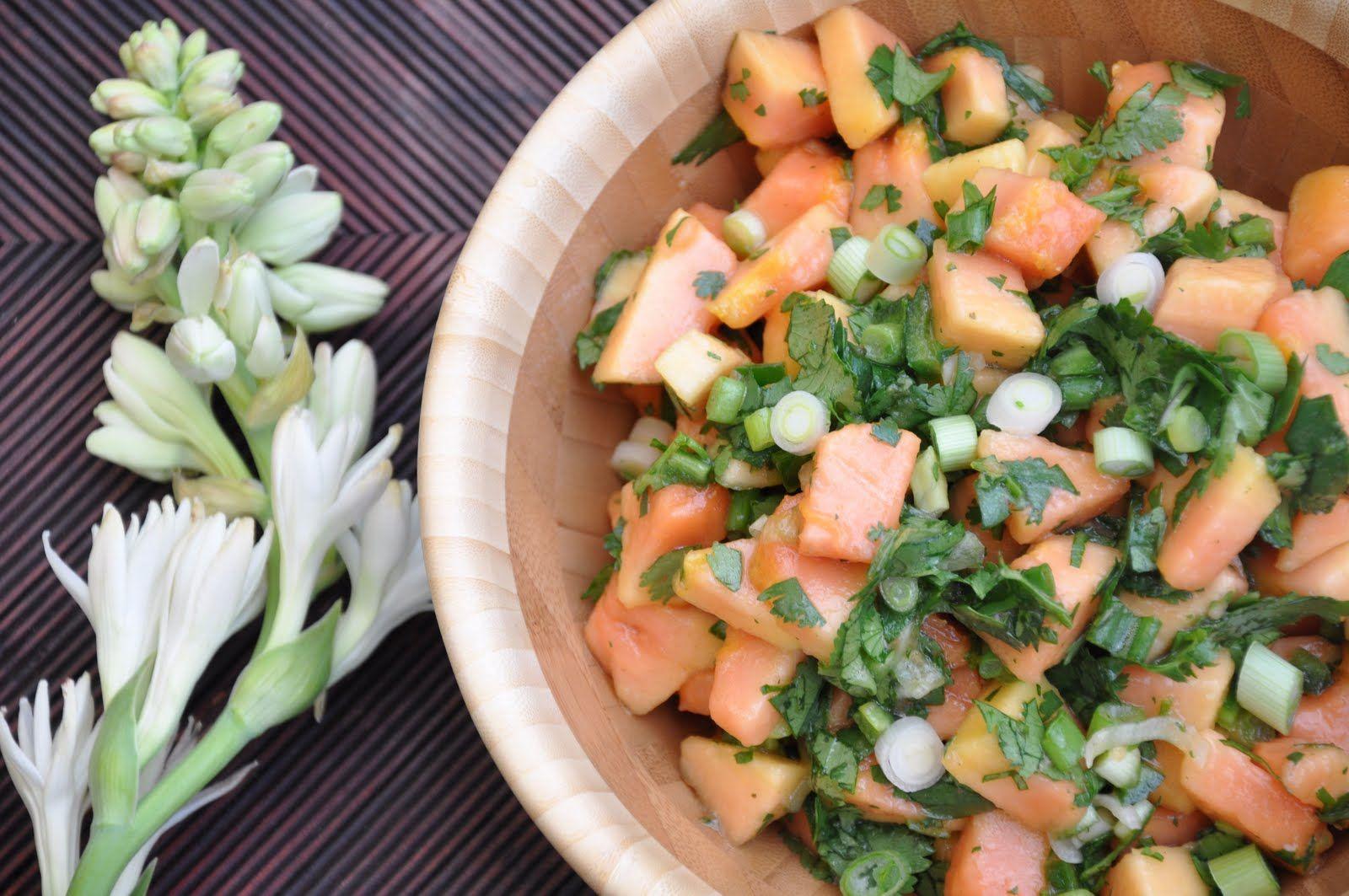 Fresh papaya salsa raw food recipes healthy appetizers