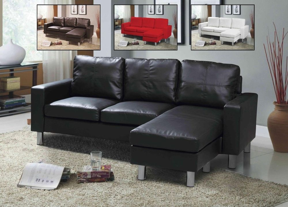 3 Seater White Sofa Corner L Shape Settee Chaise Faux Leather Modern Furniture : chaise settee furniture - Sectionals, Sofas & Couches