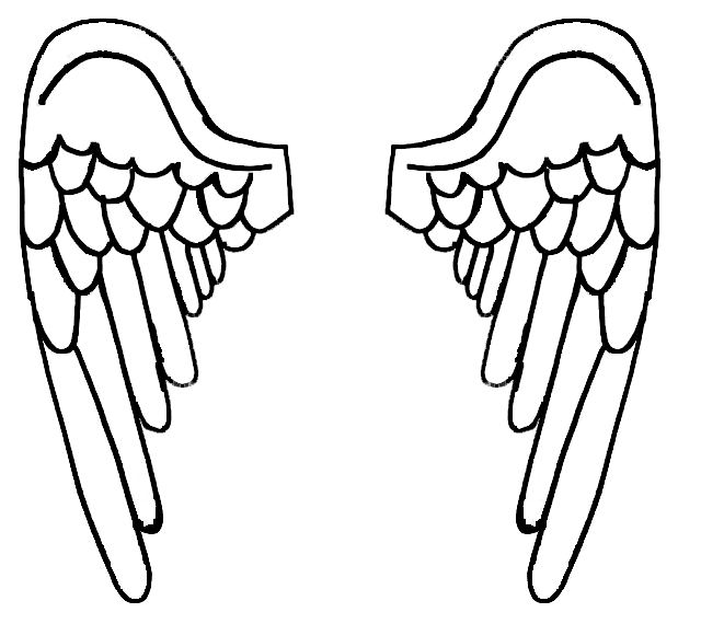 printable angel wings coloring pages - photo#41