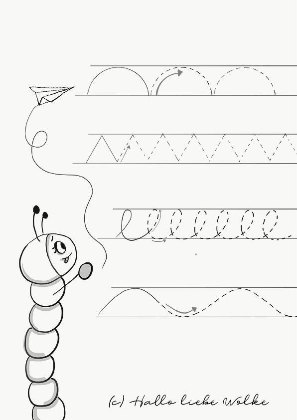 Schwungübungen mit Sina Schwungwurm - startklar für die Vorschule ...