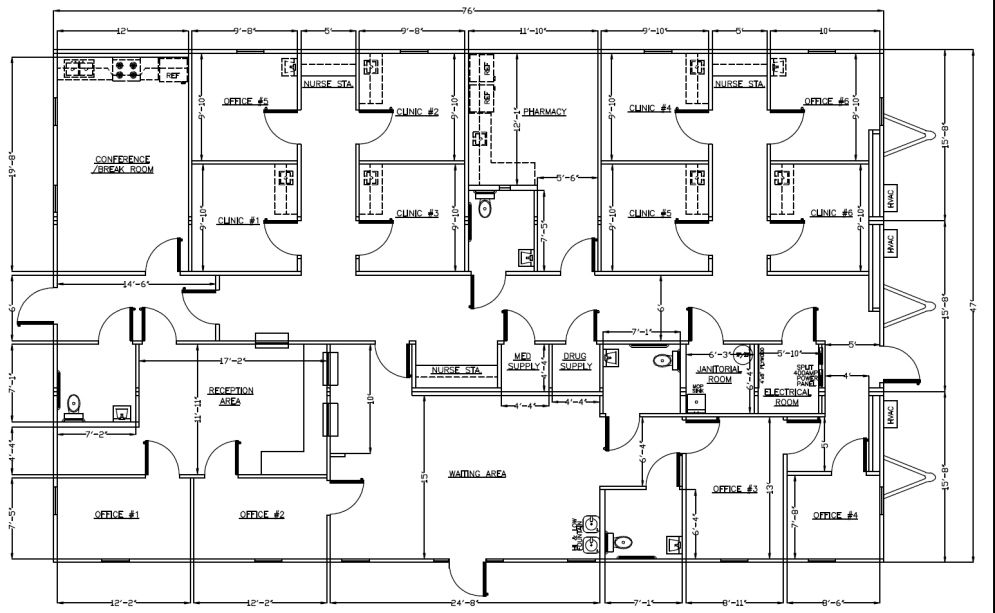 Office/Classroom Layout Design