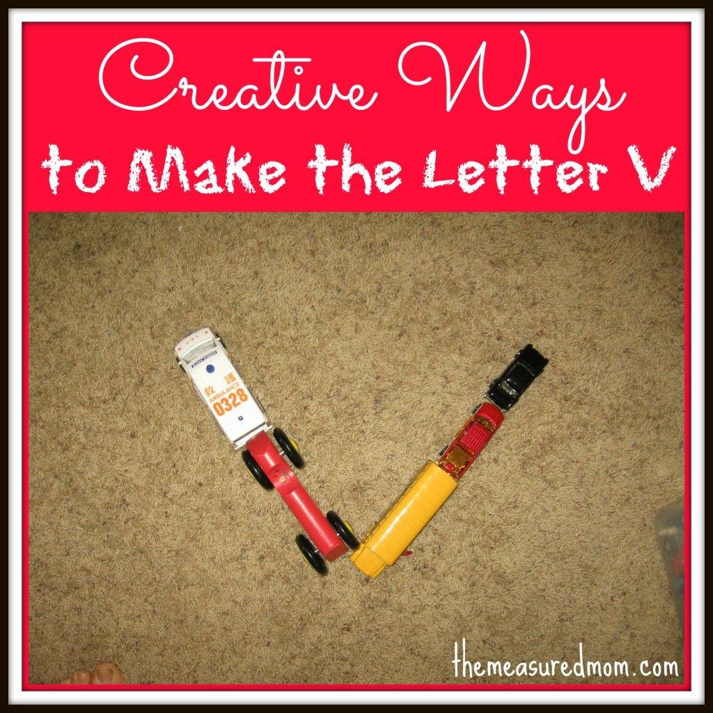 Creative Ways To Write The Alphabet Letter V