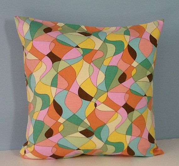 Mid+century+modern+pillow+cover.+Retro.+18+by+sterlingstitchery