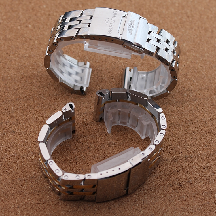 27.21$  Buy now - https://alitems.com/g/1e8d114494b01f4c715516525dc3e8/?i=5&ulp=https%3A%2F%2Fwww.aliexpress.com%2Fitem%2FMixed-colors-Silver-with-gold-Watchbands-for-luxury-brand-watches-accessories-22mm-24mm-men-watch-straps%2F32650826608.html - Mixed colors Silver with gold Watchbands for luxury brand watches accessories 22mm 24mm men watch straps bracelet flat end Hot