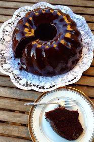Les receptes que m'agraden: Bizcocho de chocolate a la naranja - Bunt de xocolata a la taronja .