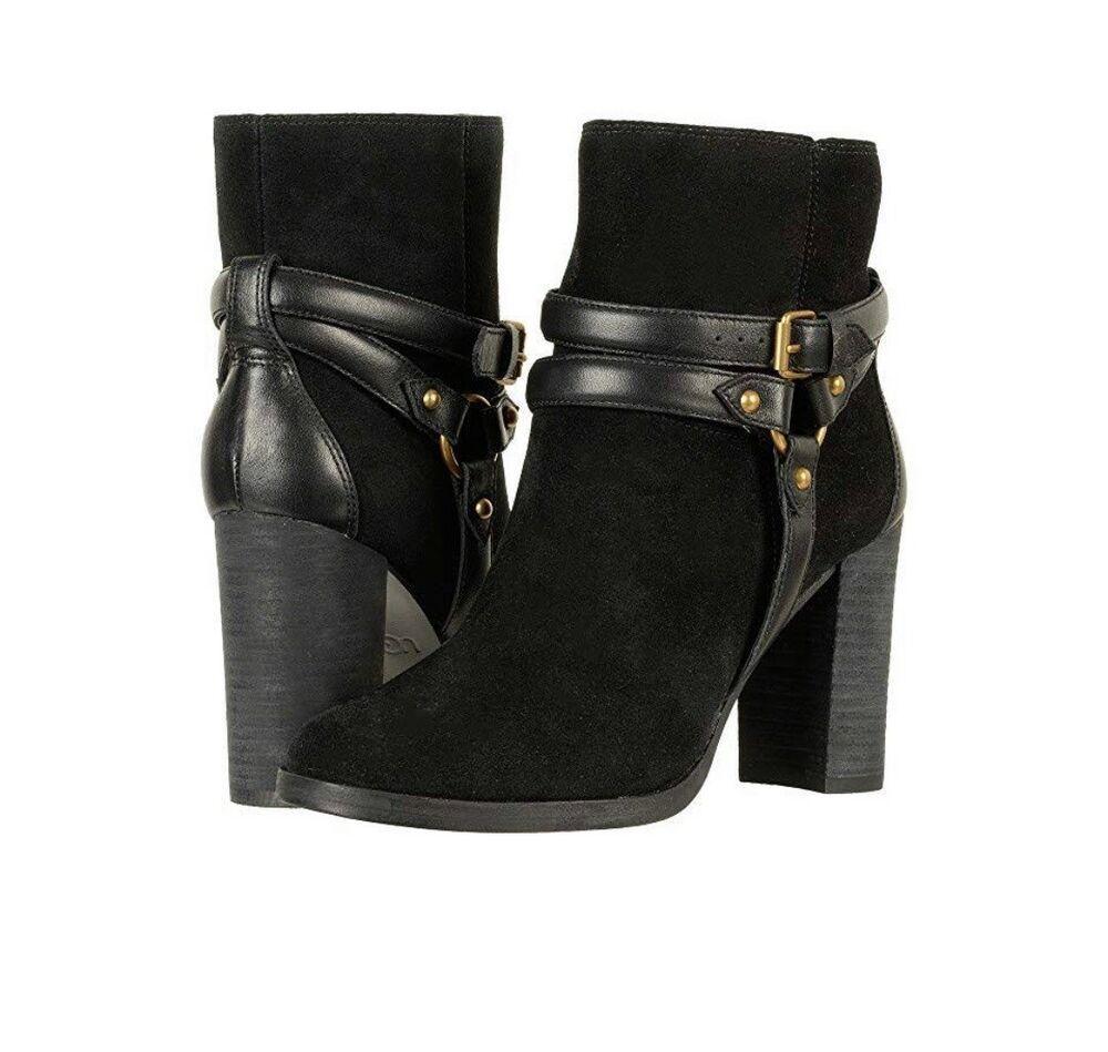 e6ede20b9bf NWOB Size 9 UGG Australia Dandridge Black Suede Harness Boots $250 ...