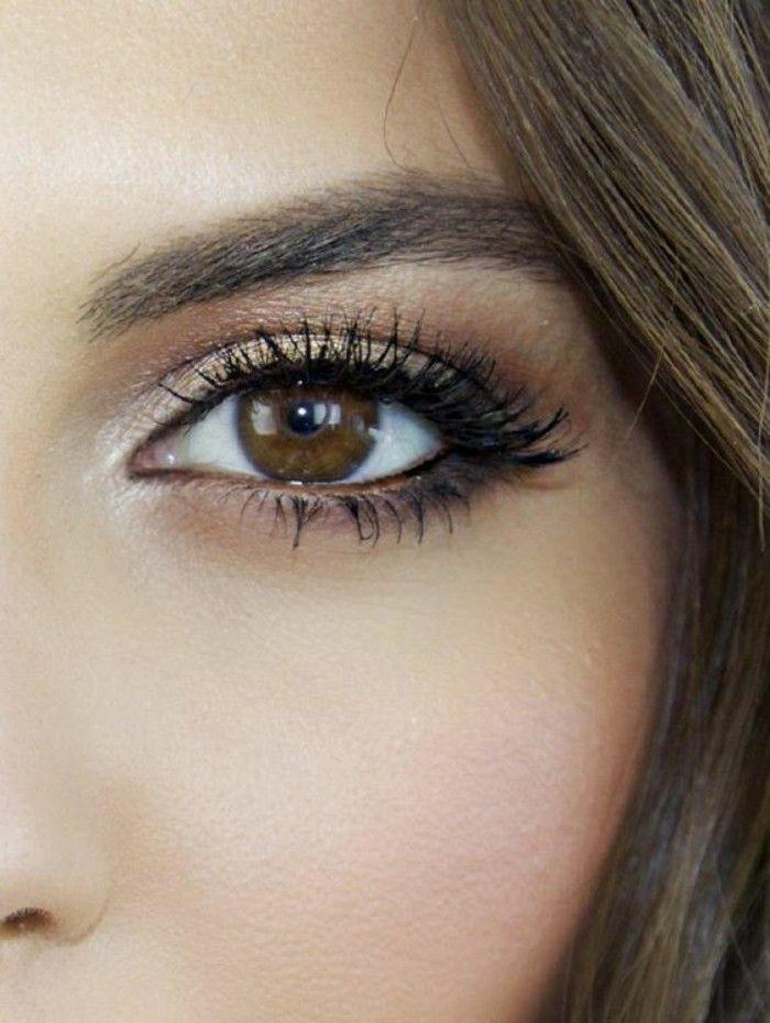 Populaire Le maquillage pour yeux marron, 51 idées en photos et vidéos  GK85