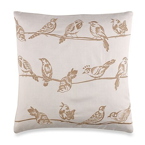 Birds On A Wire Throw Pillow At Bed Bath Beyond For 14 99 Clearance Home Remodel Ideas Pinterest Pillows Taupe And