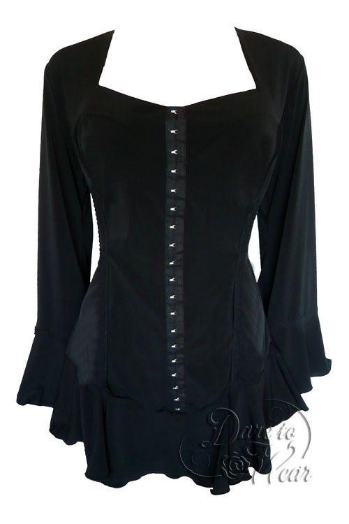 Dare To Wear Victorian Gothic Women's Plus Size Corsetta Corset Top Black