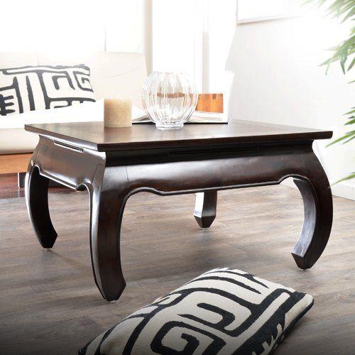 Couchtisch Wohnzimmertisch Opiumtisch Tisch aus Mahagoni 80 x 80 - designer couchtisch wohnzimmertisch