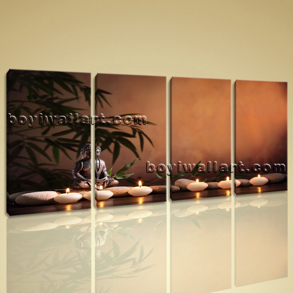 Large buddha zen feng shui contemporary on canvas wall art home