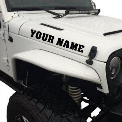 Custom jeep name hood decal jeep hood decal jeep decal jeep hood sticker custom jeep jeeps and hoods