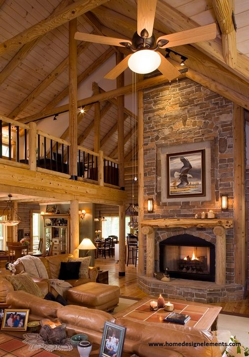 Log Home 61 This Is Cozy I Think The Wood Is A Shade To Light Though Log Homes Log Home