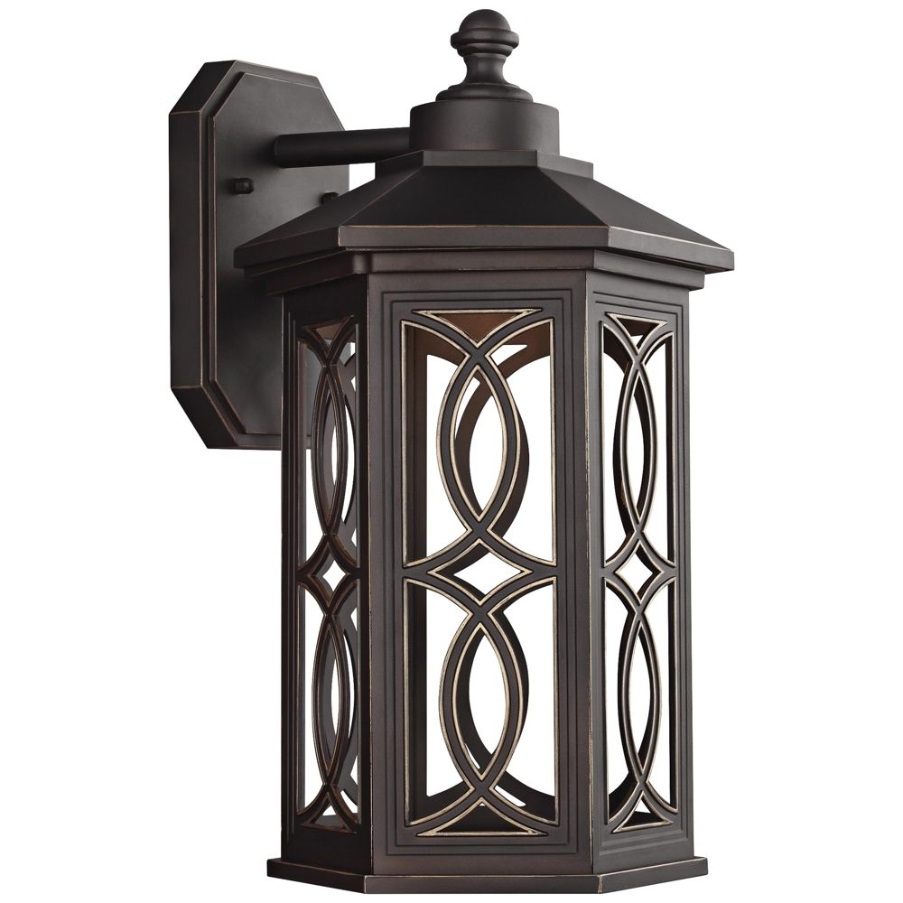 "Ormsby 15 1/2"" High Antique Bronze LED Outdoor Wall Light - Style # 23A09"
