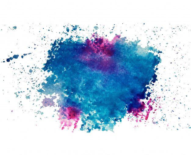 Seni Abstrak Tinta Cerah Berwarna Warni Dan Tekstur Cat Air Pada