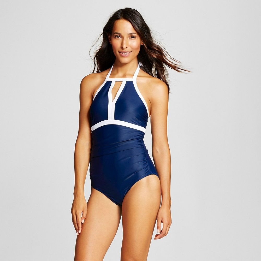 NWT Athleta High Neck Tie Back Tankini Swim Top Black sz S Small  #384000