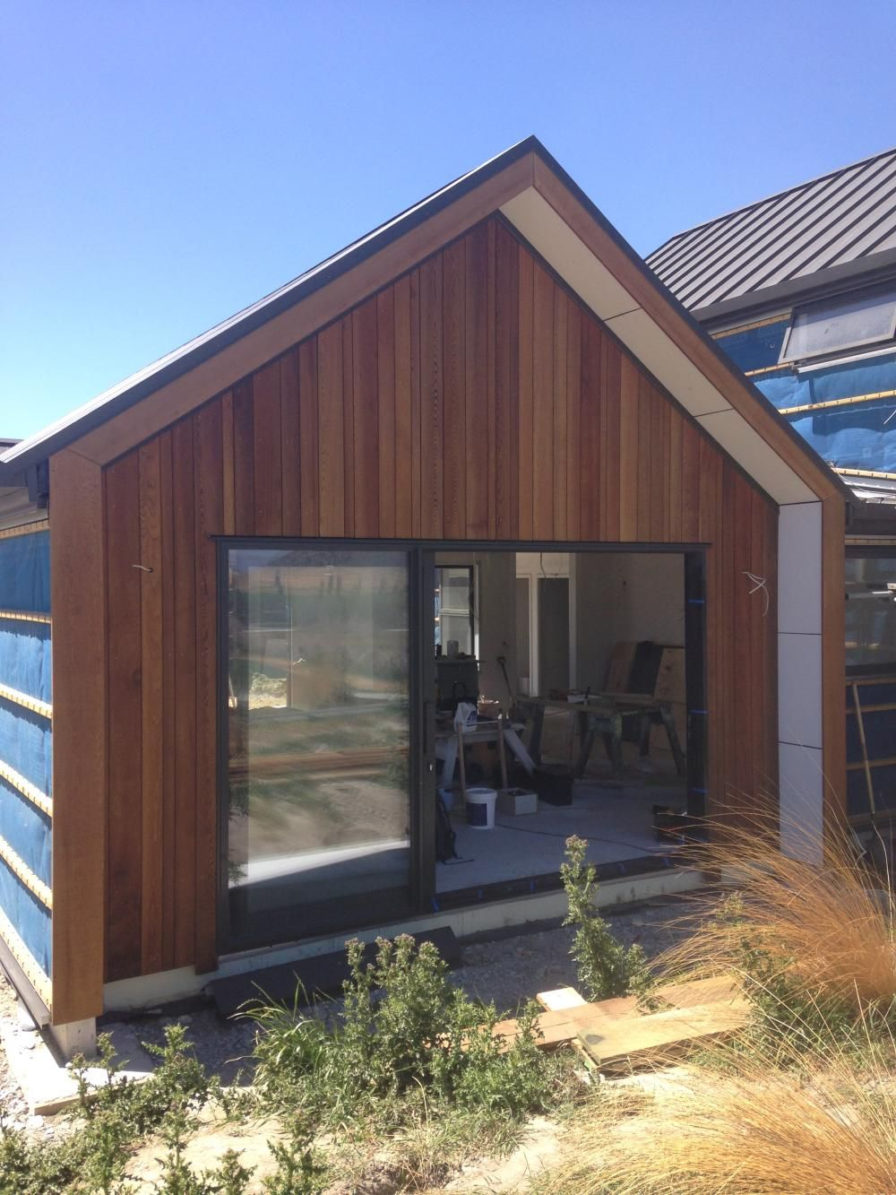 Cedar Cladding Wingwall Gable Building Nz Architecture House Loving