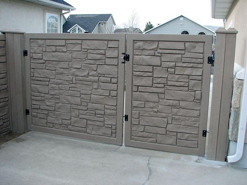 Simtek Ecostone Gate Matching Simulated Stone Gates For