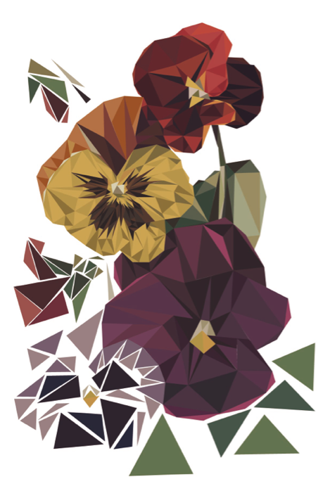 Geometric Nature by Miquel Angel , via Behance