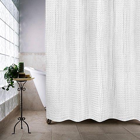 Escondido 54 Inch X 78 Inch Stall Shower Curtain In White