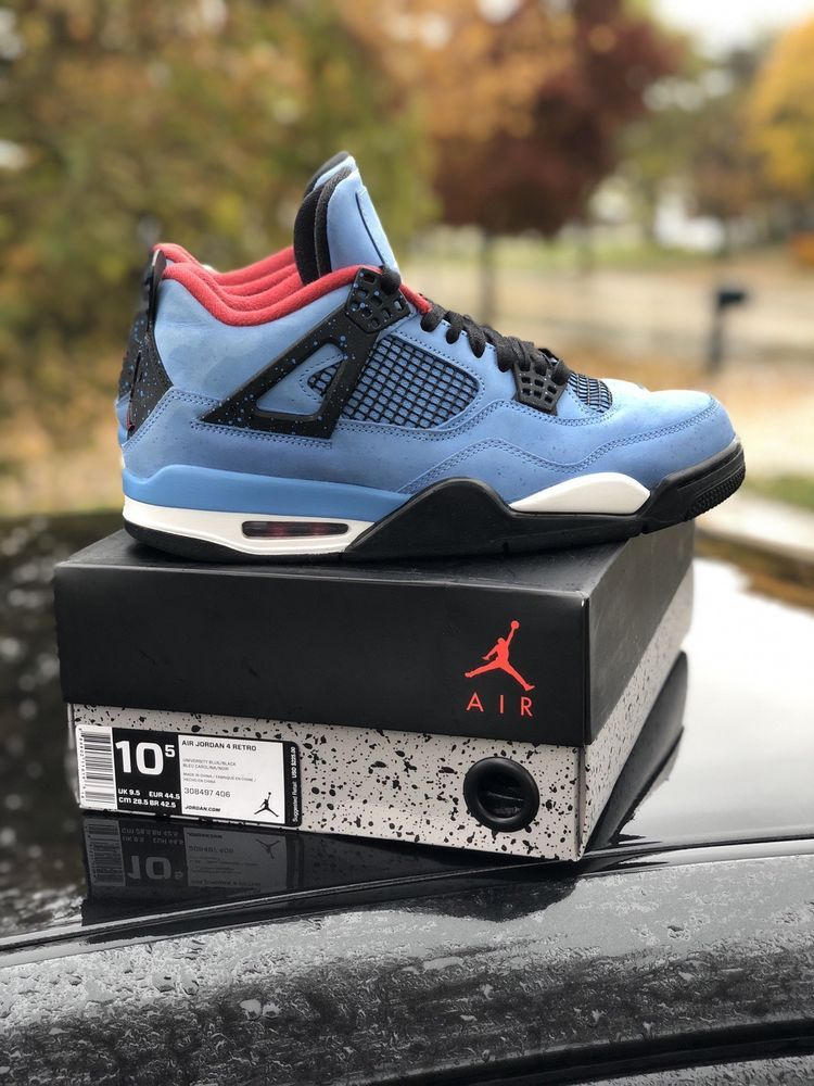Travis Scott Jordan 4s Size 10 5 Fashion Clothing Shoes