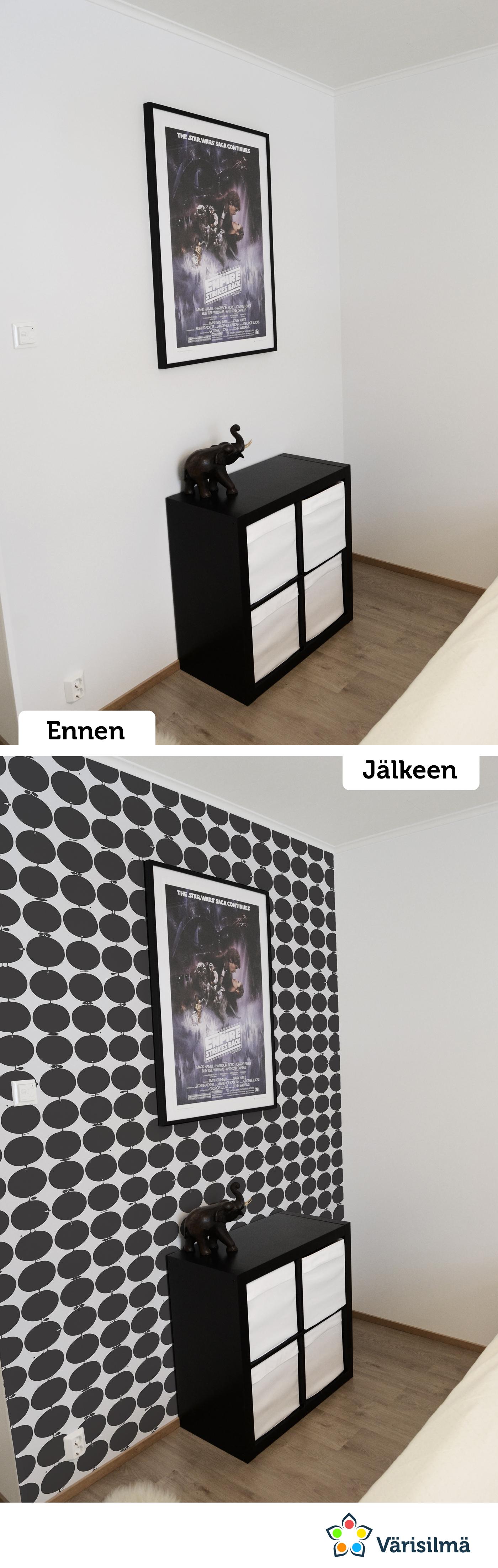 Tapettina Wallpapers by Scandinavian Designers-malliston malli 2751. kauppa.varisilma.fi #värisilmämakeover