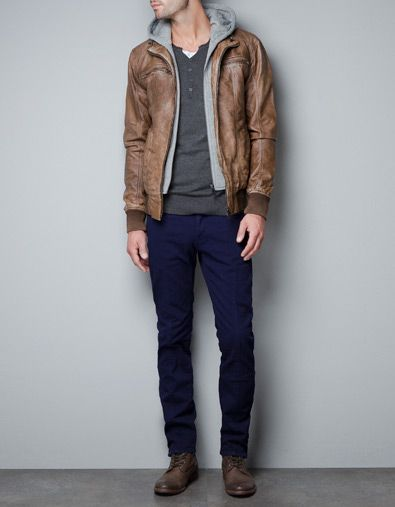 Jacket With Detachable Hood Jackets Man Zara Canada Menswear Mens Outfits Mens Jackets