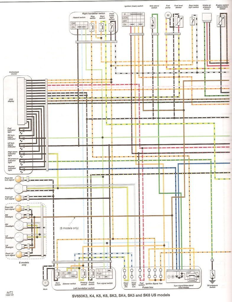 Faq Colored Wiring Diagram All Sv650 Models Suzuki 400 4x4 Forum Sv1000 Gladius Forums
