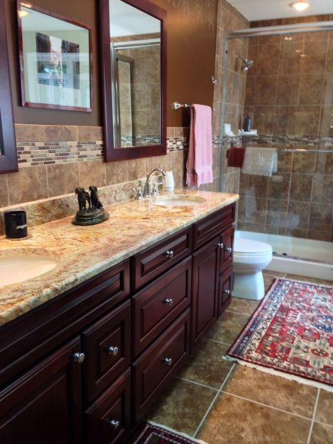 Quot Master Bathroom Quot Sienna Bordeaux Granite Countertops