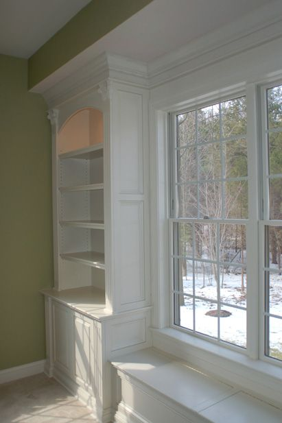 Would Love This With Stain Wood In Our Office Got To Get Dad To Help Out Built In Bookcase