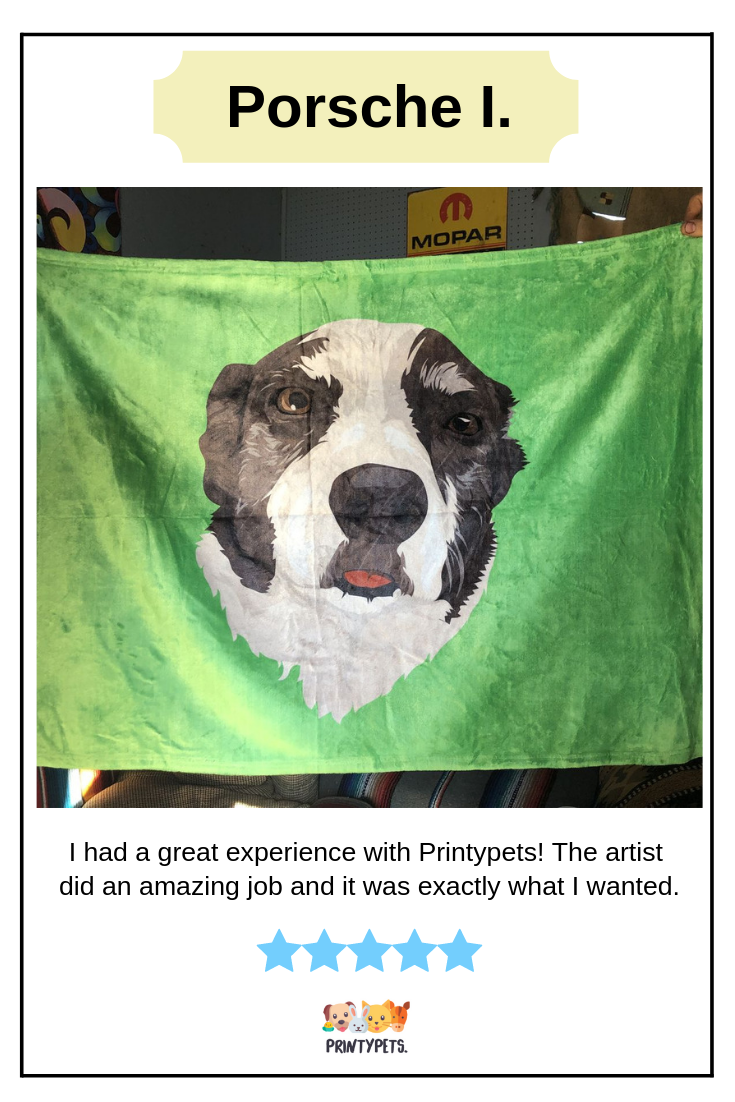 I Had A Great Experience With Printypets Especially Compared To Printyourpet Which I Ordered A Blanket From Almost A Mon Custom Pet Art Happy Customers Pets