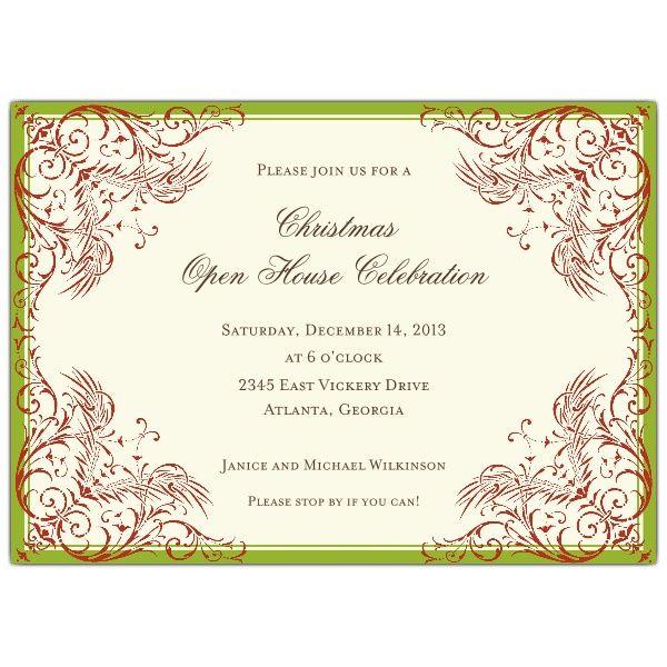 Marsh Border Holiday Christmas Invitations Christmas/Holiday Ideas