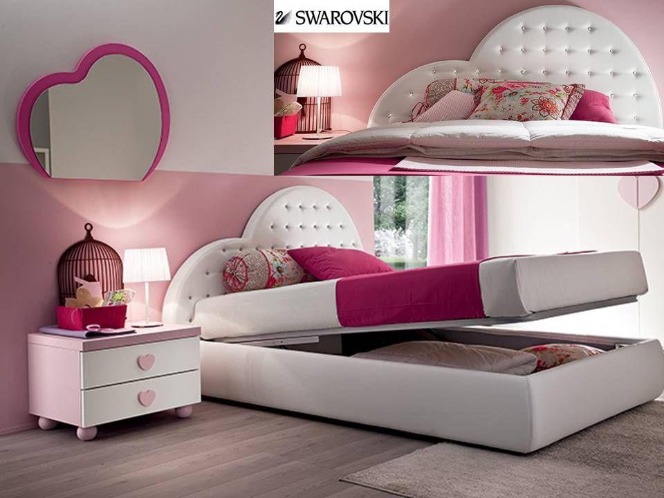 Stanza Da Letto Rosa : Letto a cuore con swarovski camerette pink bedroom for girls