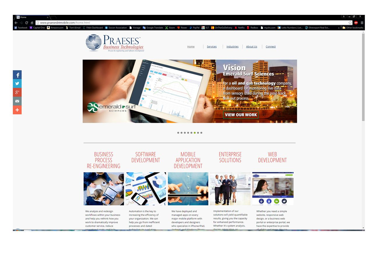 Website for Business Technologies, a division of Praeses, a software development company in Shreveport, LA. THIS WEBSITE IS IN PROGRESS.