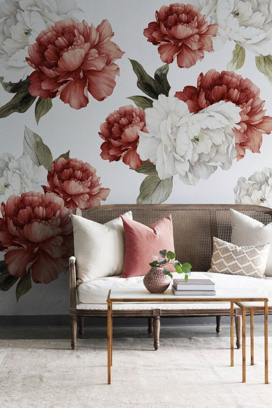 Crimson Peonies в 2020 г. | Декор стен дома, Домашний ...