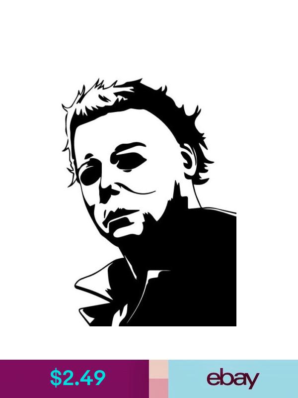 Michael Myers Vinyl Decal Sticker Halloween Carpenter Horror Monster Painting Art Projects Cricut Halloween Stencil Art