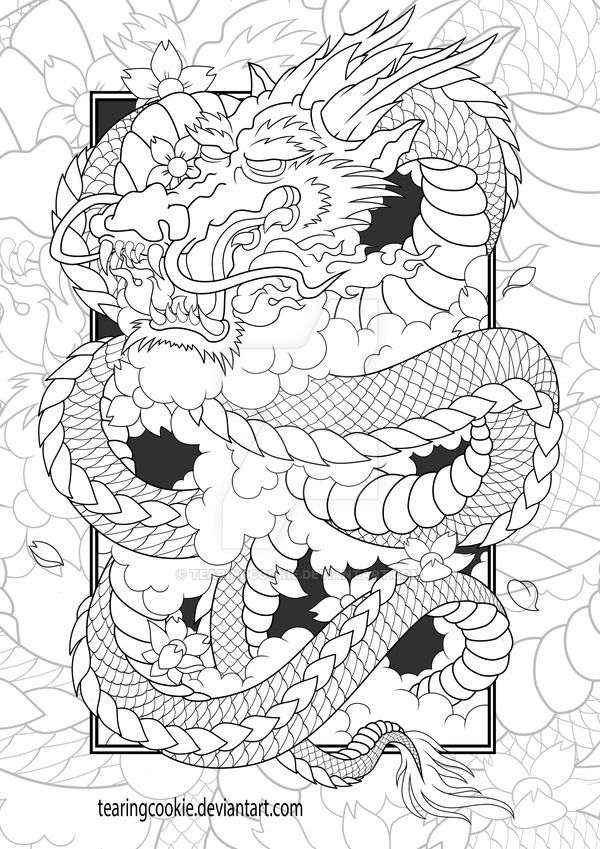 Chinese Dragon Colouring Page by TearingCookie on DeviantArt ...